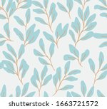 hand drawn floral pattern.... | Shutterstock .eps vector #1663721572