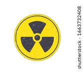 radioactive icon nuclear symbol.... | Shutterstock .eps vector #1663732408