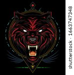 Red Wolf Logo  Angry Wolves...