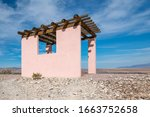 Pink Stucco Pagoda Building...