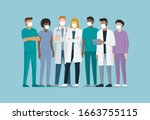 doctors and medical staff... | Shutterstock .eps vector #1663755115