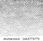 snow and wind on a transparent... | Shutterstock .eps vector #1663773775
