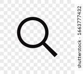 search vector icon  magnifier... | Shutterstock .eps vector #1663777432