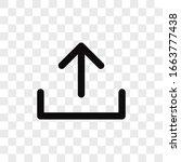 upload vector icon in modern... | Shutterstock .eps vector #1663777438