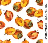 seamless pattern with ripe... | Shutterstock . vector #1663783402