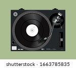 vector dj vinyl player. vinyl...