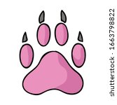 Cute Cartoon Dog Paw Print...