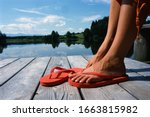 Close Up Of Woman\'s Feet In...
