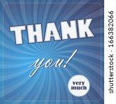 modern concept thank you very...   Shutterstock .eps vector #166382066