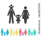 family multi color icon set....