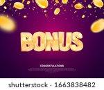 golden shine bonus word vector...   Shutterstock .eps vector #1663838482