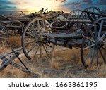 Wheels From Old Broken Carts At ...