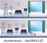 hospital ward for sick patients....   Shutterstock .eps vector #1663891132
