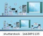 doctor's office in the hospital....   Shutterstock .eps vector #1663891135