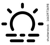 sunrise icon with outline style....