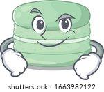 cool pistachio macaron mascot... | Shutterstock .eps vector #1663982122