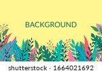 plants and leaves background in ... | Shutterstock .eps vector #1664021692