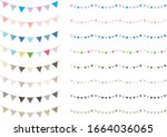 triangle garland set of various ... | Shutterstock .eps vector #1664036065