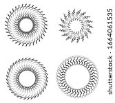radial zigzag lines in circle... | Shutterstock .eps vector #1664061535
