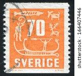 sweden   circa 1954  stamp...   Shutterstock . vector #166407446