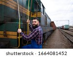 Engine Driver Boarding Train To ...