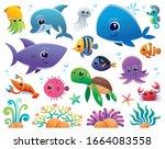 vector illustration of sea...   Shutterstock .eps vector #1664083558