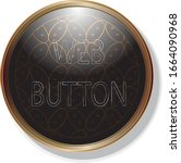 gold frame black web button and ...