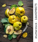 Ripe Golden Yellow Quince...