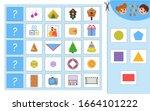 educational worksheet for... | Shutterstock .eps vector #1664101222