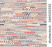 seamless geometric pattern in... | Shutterstock .eps vector #1664102332