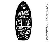 surfing  water sport vector... | Shutterstock .eps vector #1664116642