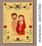 save the date.cute indian bride ...   Shutterstock .eps vector #1664121562