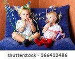 two children whistling | Shutterstock . vector #166412486