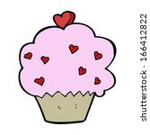 cartoon cupcake | Shutterstock .eps vector #166412822