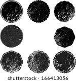 set of grunge stamp  | Shutterstock .eps vector #166413056