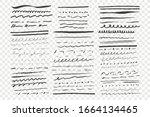 sketch underlines set....   Shutterstock .eps vector #1664134465