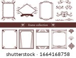 a set of vintage frames that... | Shutterstock .eps vector #1664168758