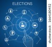 elections concept  blue...