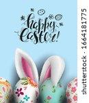 template vector easter card...   Shutterstock .eps vector #1664181775