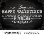 happy valentines day card... | Shutterstock .eps vector #166418672