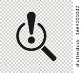risk analysis icon in flat... | Shutterstock .eps vector #1664201032