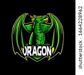 Green Dragon Mascot Logo....