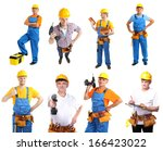 collage of manual workers...   Shutterstock . vector #166423022