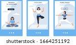 yoga girl on mobile app  home...