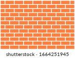 red concrete bricks pattern...   Shutterstock .eps vector #1664251945