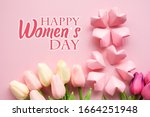 happy women's day wishes card   ... | Shutterstock . vector #1664251948