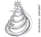 shiny silver christmas... | Shutterstock . vector #16642867
