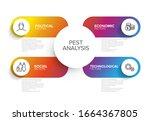 vector pest diagram schema  ... | Shutterstock .eps vector #1664367805