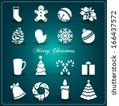 christmas decoration collection ... | Shutterstock .eps vector #166437572