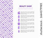 beauty shop concept thin line... | Shutterstock .eps vector #1664379985
